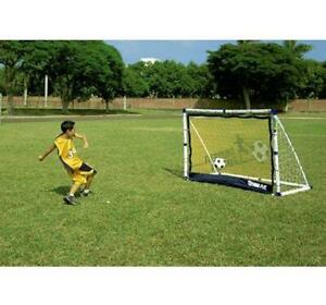 ad741d6b Details about KIDS FOOTBALL GOAL POSTS 3IN1 TARGET SHOT & REBOUND NET 6FT  CHILDRENS GOALS SET