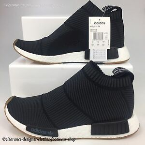 Details about ADIDAS NMD CS1 PK TRAINERS CITY SOCK PRIMEKNIT CHUKKA MENS BLACK SHOES UK 10