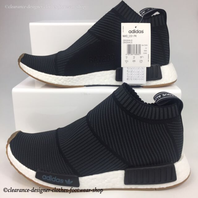 4b24053a5 ADIDAS NMD CS1 PK TRAINERS CITY SOCK PRIMEKNIT CHUKKA MENS BLACK SHOES UK 10