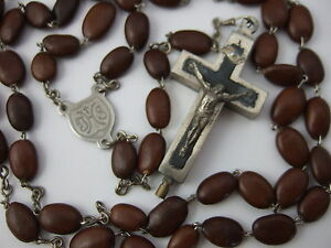 Vintage-Catholic-SPINA-CHRISTI-bead-Rosary-Catecombs-034-Relic-034-Reliquary-Crucifix