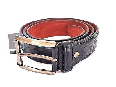 Ds Cinta Cintura Uomo Blu Effetto Coccodrillo Elegante Glamour Fashion Moda Hac