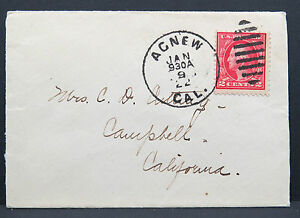 Agnew-Cal-1922-Cancel-on-US-Cover-Duplex-Cancel-Ef-on-America-Letter-Lot-5746