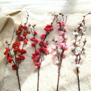 Artificiel-Cerise-Prune-Peche-Fleur-Branche-Faux-Soie-Fleur-Decoration-Arbre