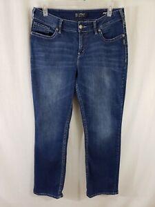 Silver-Jeans-Suki-High-Slim-Boot-Cut-Womens-Blue-Denim-Size-34-x-32-Medium-Wash