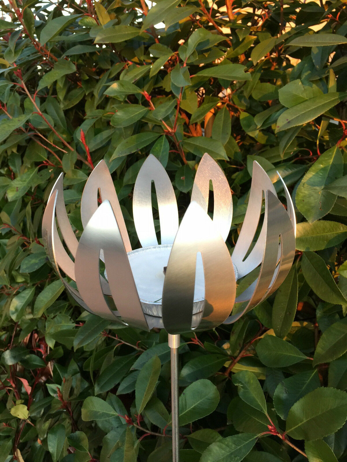 Edelstahlstele  flor  jardín vela enchufe para jardín edelstahlfackel gartendeko Top