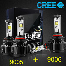 CREE 9006 9005 LED Headlight Kit Bulbs Hi/Low Beam 120W 14400LM 6000K White Car