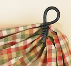Park Designs Curtain Hooks - Iron - Forged Loop Pair