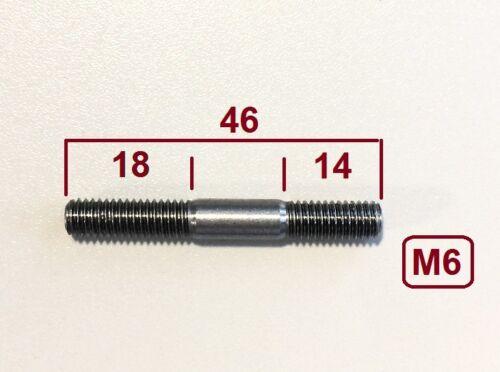 Kupfermutter M6 Klemmung 10 Stück Stehbolzen  M6x46 hochfest 12.9 M6x45