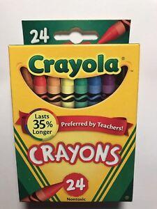 crayola crayons 24 count box with retired dandelion color ebay