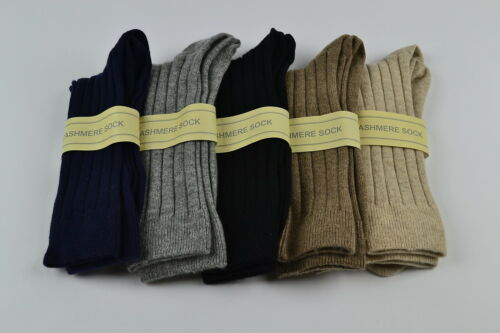 Schottisch Kaschmir Herren Socken Schwarz Braun Grau Marineblau Beige 7 8 9