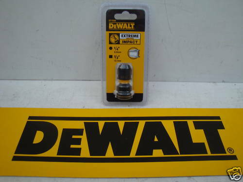 """DEWALT DT7508 IMPACT WRENCH TO DRIVER ATTACHMENT 1//2/""""SQUARE TO 1//4/"""" HEX ADAPTOR"""