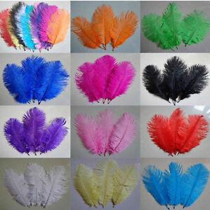 Wholesale 5/10/20/50/100 PCS ostrich feather 15-25cm/6-10inches U Pick color