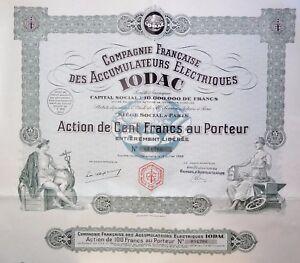 Compagnie Française Des Accumulateurs Électriques Iodac Action 100 Francs 1928 Fw6mk8d2-07221402-873705349