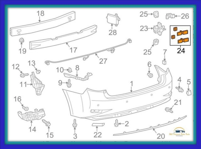 For ES350 13-15 Radiator Support Cover