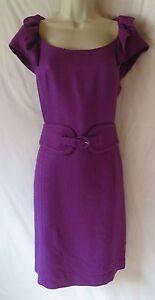 Kay-Unger-6-8-dress-purple-belted-EUC