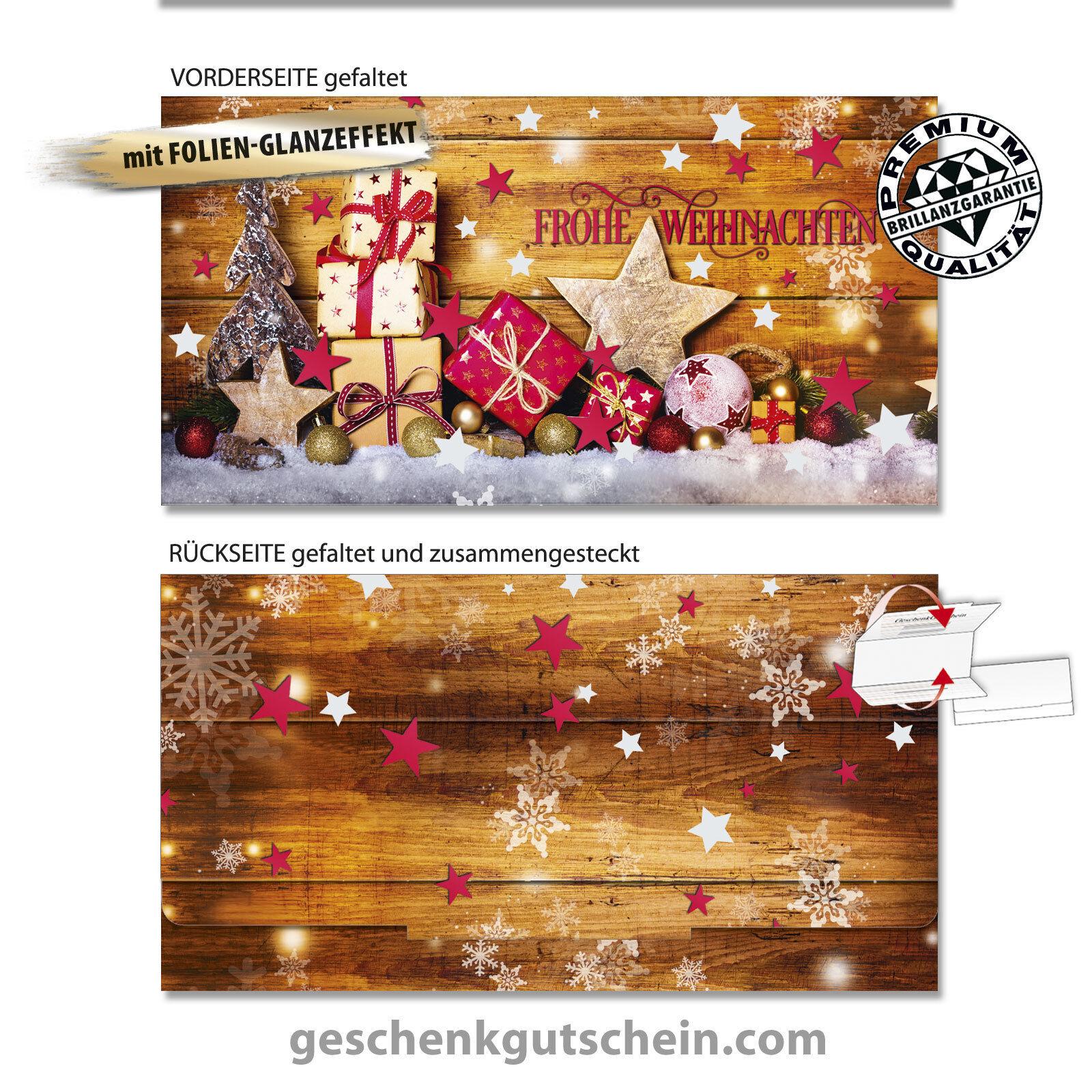 Weihnachts-Geschenkgutscheine  Glamour-Edition  für alle Branchen X296FG    Export    Tadellos
