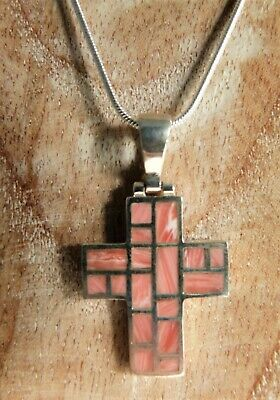 Sterling Silver Tall Cross on Rectangle