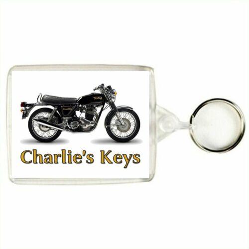 Personalised NORTON COMMANDO Classic Motorcycle Keyring Bag Tag