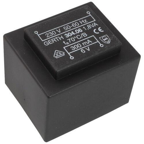 Gerth Print transformateur 304.06 printtrafo 1,8va 6 V Netztrafo transformateur 857691