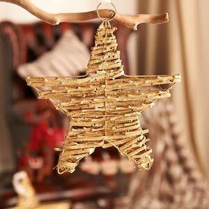 Job-Lot-bundle-NEW-24-x-Gold-Glitter-Twig-Stars-with-tags
