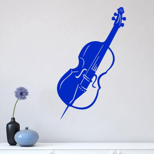 Violin Instrument Musical Wall Sticker Decal Transfer Music Home Matt Vinyl UK
