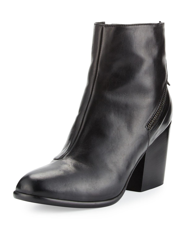 Nouveau Alberto Fermani Viva bottines, cuir noir, femme taille 40 (10 US), 485