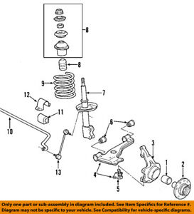 saturn gm oem 01 05 l300 front wheel hub 90496444 ebay rh ebay com Saturn Sky Parts Diagram Saturn Wiring Diagrams