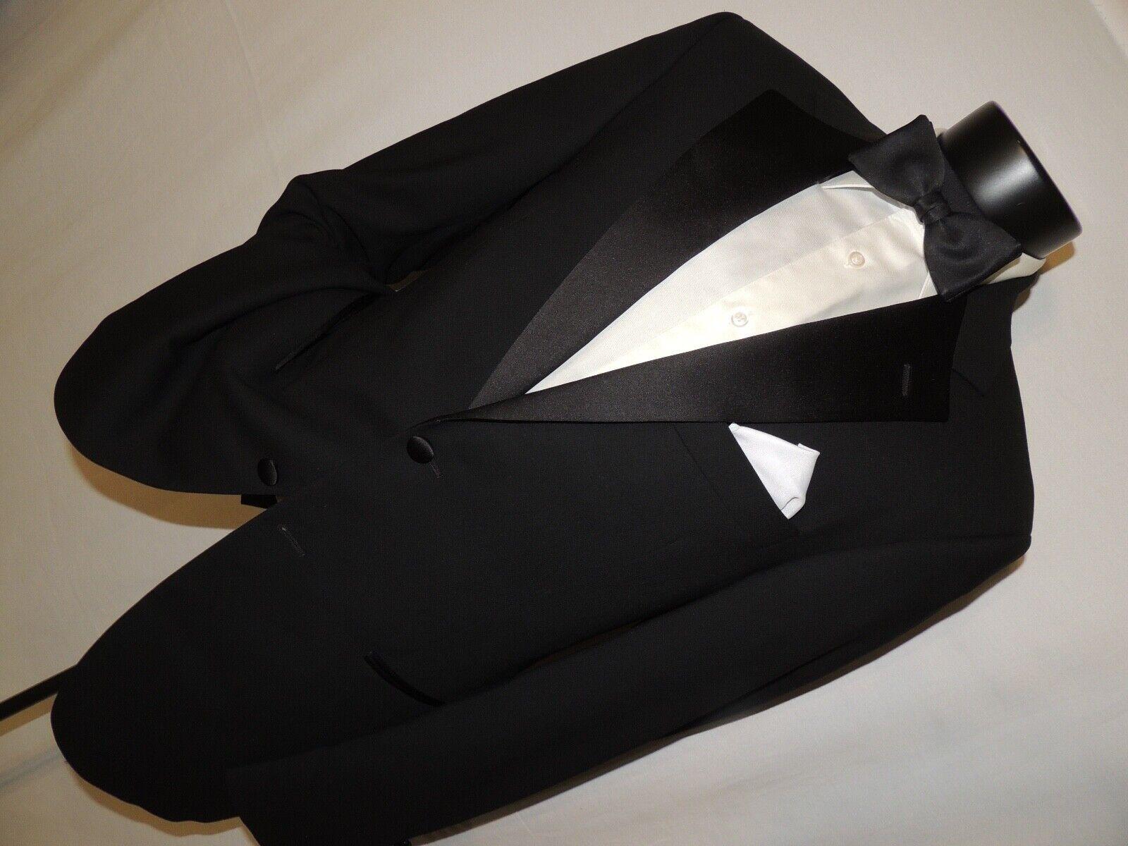 John W. Nordstrom men's formal Black tuxedo suit 40 R in Pristine Condition