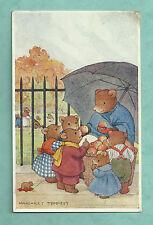 "1940 MARGARET TEMPEST MEDICI POSTCARD "" SWEET APPLES "" Pkt. 61 SQUIDGY BEARS!"