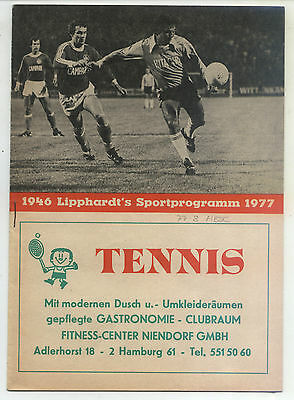 Bl 77/78 Hamburger Sv - Hertha Bsc (lipphardt's), 03.12.1977 Erfrischung