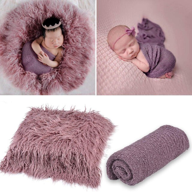 Newborn Baby Photography Wrap Infant Photo Prop Stretch Wrap Blanket Mat Newest