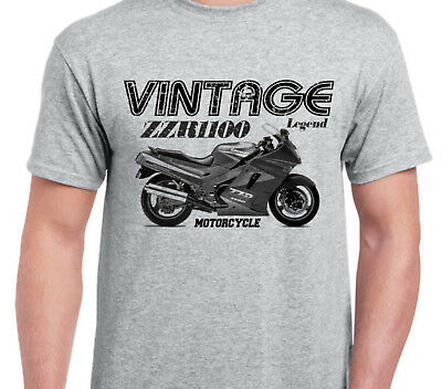 KAWASAKI ZZR1100 90  inspired vintage motorcycle classic bike shirt tshirt