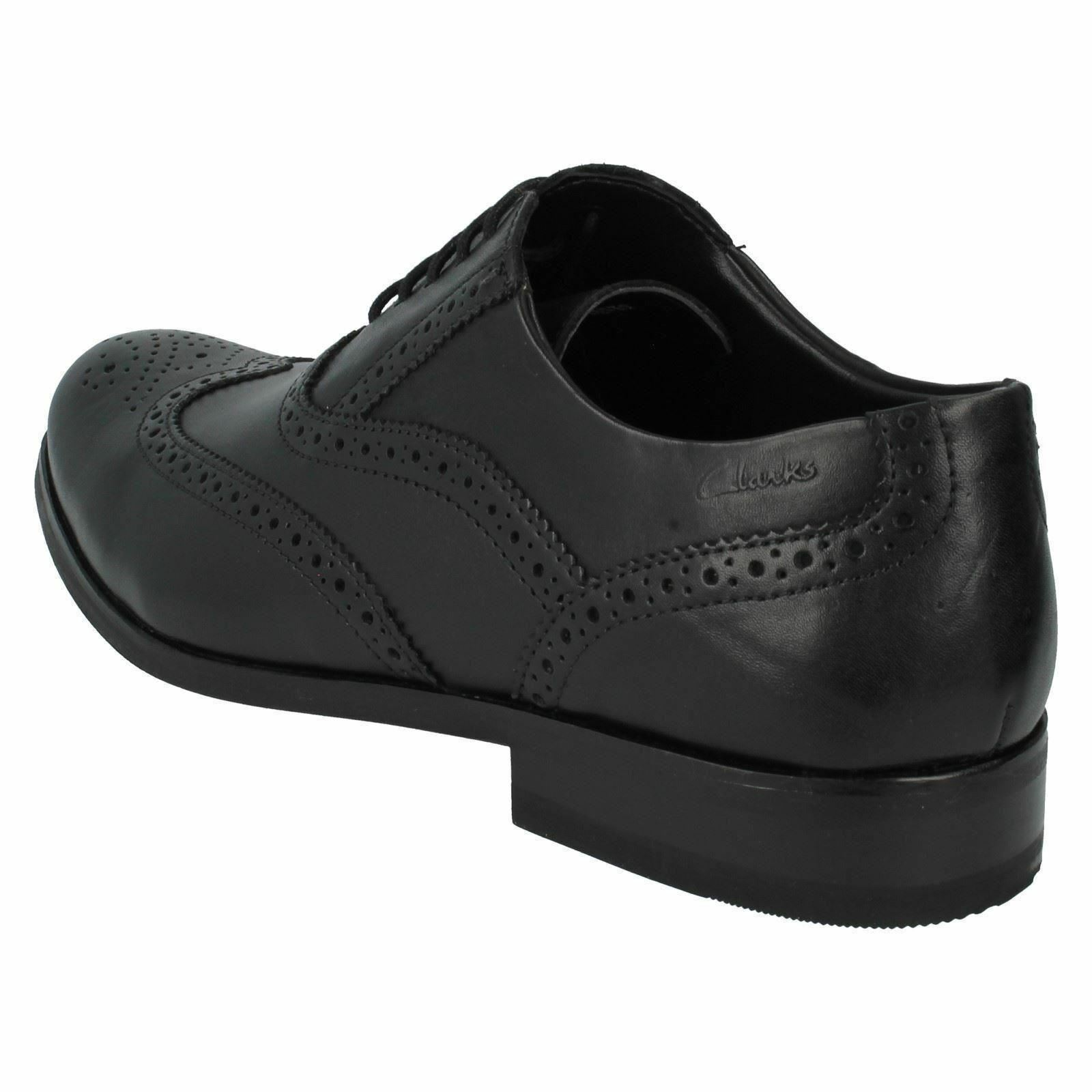 MENS BLACK Schuhe LEATHER LACE UP BROGUE Schuhe BLACK BY CLARKS BRINT BROGUE G FIT £44.99 a21bc7