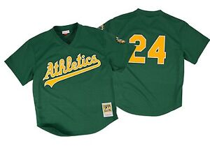 ac8bc9c3b Image is loading Rickey-Henderson-1998-Oakland-Athletics-Mesh-Batting- Practice-