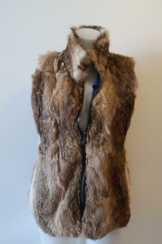 Faux  Fur Vest  Reversible  Zip front  Size L