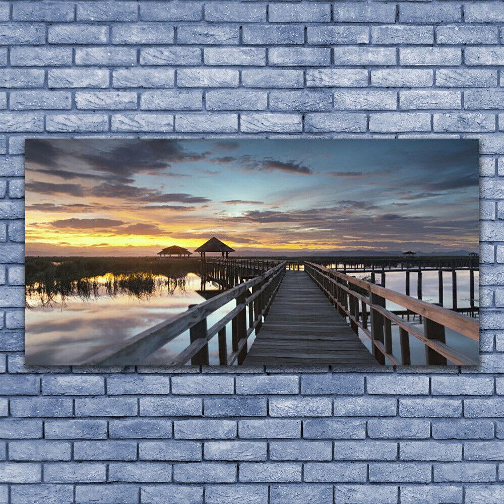 Photo Architecture sur toile Image Tableau Impression 140x70 Architecture Photo Pont bb1f9d
