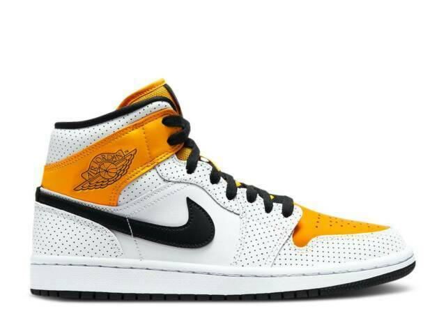 Size 11 - Jordan 1 Mid Perforated - White University Gold for sale ...