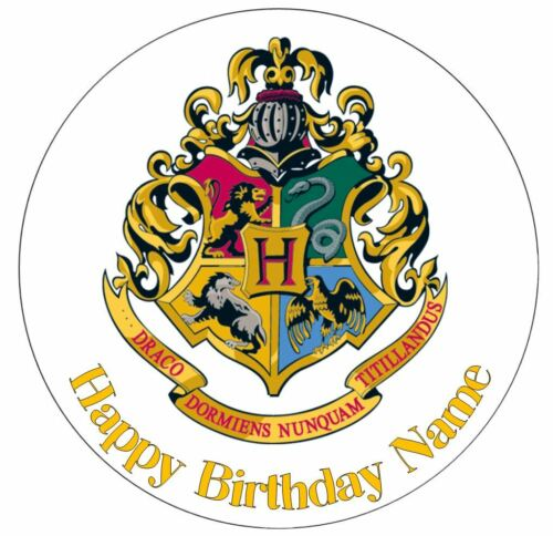 Harry Potter Houses Personalised Edible Cake Topper or Ribbon Icing or Wafer
