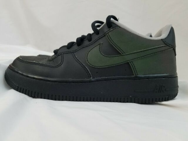 86a4ea024981 Nike NBA Air Force 1 Low LV8 Casual Shoes Black Green Wolf Grey 820438