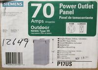 Siemens P17us Type 3r Power Outlet Panel 70a 120/240v ..... I-703