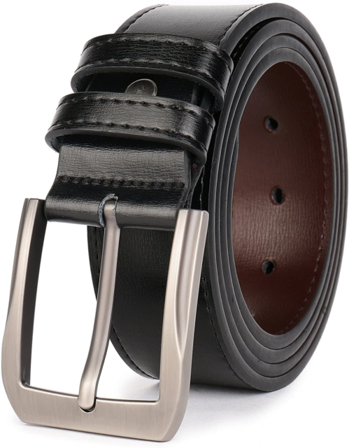 Tan 38mm Thick Real Mens Dress Belts Leather With Zinc Alloy Classic Buckle