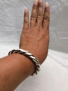 Details About Stunning Silpada Sterling Silver 925 Twist Cuff Bracelet