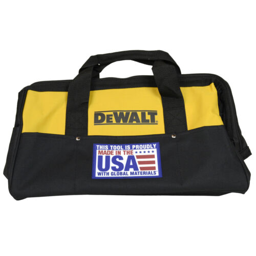"Dewalt 18/"" Heavy Duty Electrical Tool Bag USA New for Drill Impact Recip Saw"