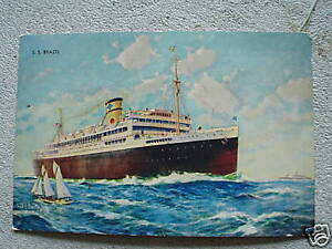 Vintage S Postcard SS Brazil Cruise Ship LOOK EBay - 1930s cruise ships