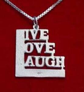 Cool sterling silver live love laugh pendant charm jewelry ebay image is loading cool sterling silver live love laugh pendant charm aloadofball Gallery