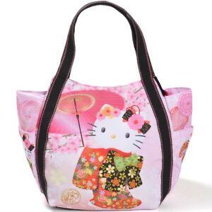 HELLO KITTY TOTE BAG MOTHER S BAG KIMONO SAKURA JAPANESE PATTERN ... 17c79a9f10a75