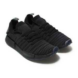 0f4037665bcdc adidas NMD R1 STLT Primeknit Triple Black CQ2391 Men Running Shoes ...