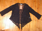 TREE OF LIFE black lace cardigan wrap FREE SIZE gypsy boho hippie BNWT