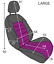 thumbnail 4 - Front Car Van Black Waterproof LARGE Universal Airbag Compatible Seat Covers
