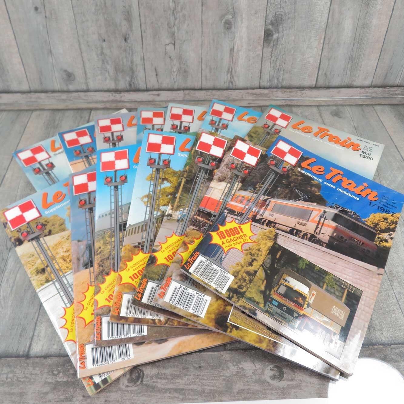 LE TRAIN - 14 Hefte - aus den Jahren 1987 - 1989 - Heft 2,7,12 fehlen -  A21147